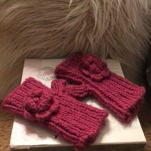 Boho gal fingerless crocheted gloves